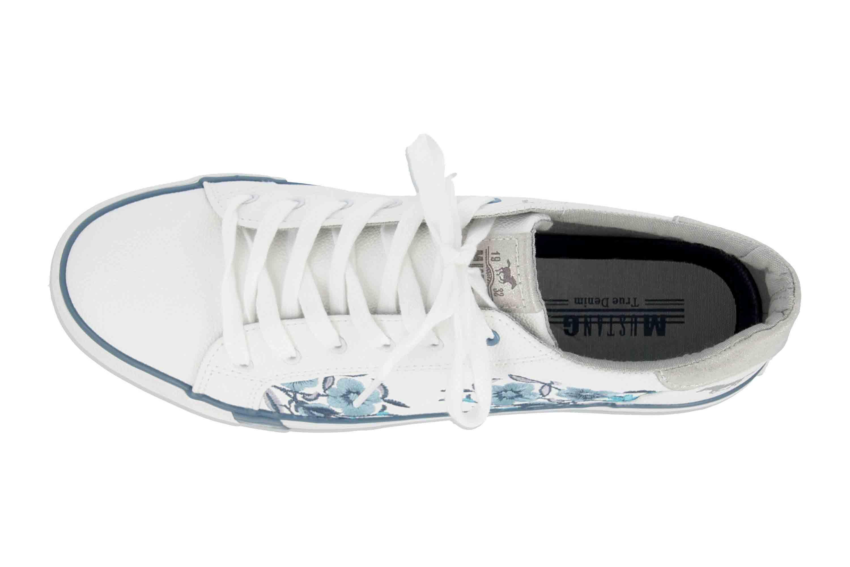 Mustang Shoes Sneaker in Übergrößen Weiß 1313-303-18 große Damenschuhe – Bild 7