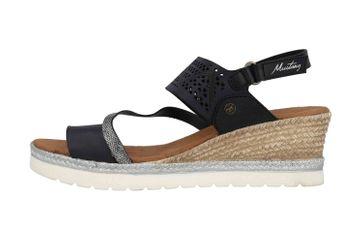 Mustang Shoes Sandaletten in Übergrößen Schwarz 1317-802-9 große Damenschuhe – Bild 1