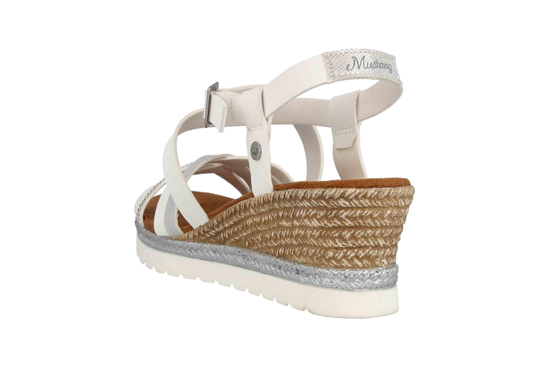 Mustang Shoes Sandaletten in Übergrößen Weiß 1317-803-1 große Damenschuhe – Bild 2