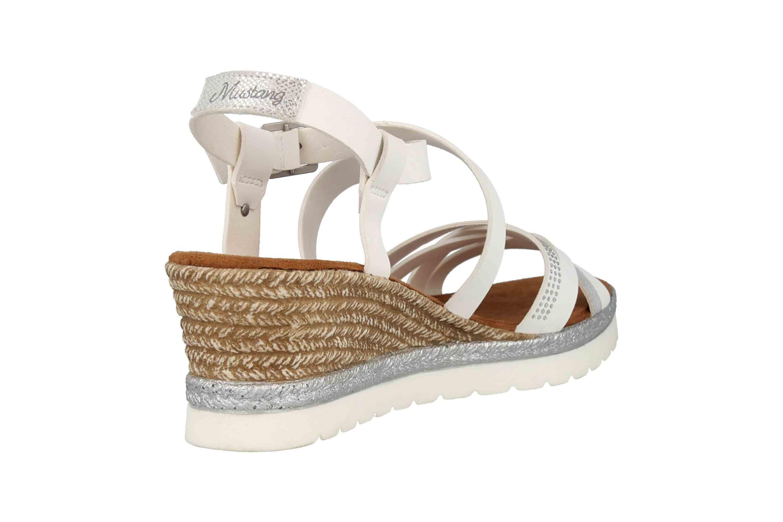 Mustang Shoes Sandaletten in Übergrößen Weiß 1317-803-1 große Damenschuhe – Bild 3