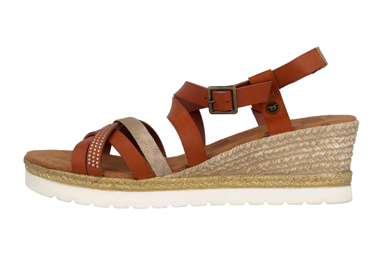 Mustang Shoes Sandaletten in Übergrößen Braun 1317-803-301 große Damenschuhe – Bild 1