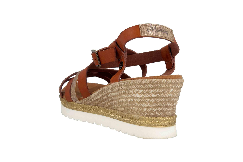Mustang Shoes Sandaletten in Übergrößen Braun 1317-803-301 große Damenschuhe – Bild 2