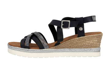 Mustang Shoes Sandaletten in Übergrößen Schwarz 1317-803-9 große Damenschuhe – Bild 1