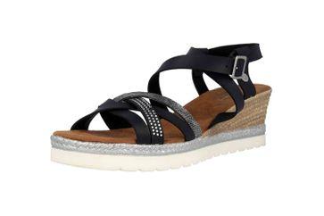 Mustang Shoes Sandaletten in Übergrößen Schwarz 1317-803-9 große Damenschuhe – Bild 6