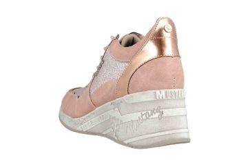 Mustang Shoes Sneaker in Übergrößen Rose 1319-301-555 große Damenschuhe – Bild 2