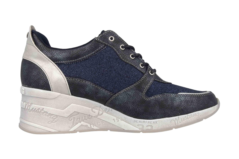 Mustang Shoes Sneaker in Übergrößen Blau 1319-301-820 große Damenschuhe – Bild 4