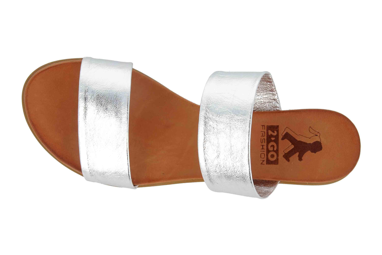Mustang Shoes Pantoletten in Übergrößen Silber 8003-701-21 große Damenschuhe – Bild 7