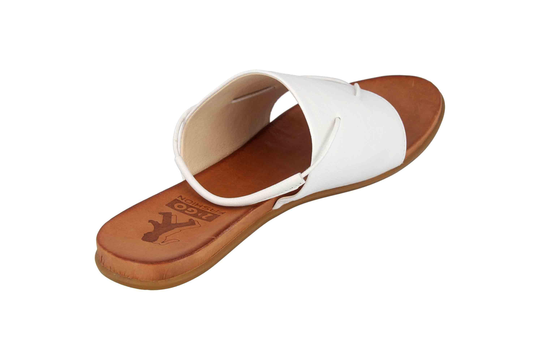 Mustang Shoes Sandalen in Übergrößen Weiß 8003-801-1 große Damenschuhe – Bild 3