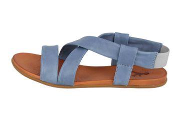 Mustang Shoes Sandalen in Übergrößen Blau 8003-802-88 große Damenschuhe – Bild 1