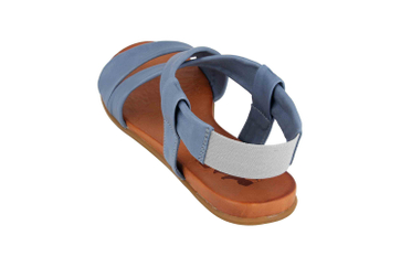 Mustang Shoes Sandalen in Übergrößen Blau 8003-802-88 große Damenschuhe – Bild 2
