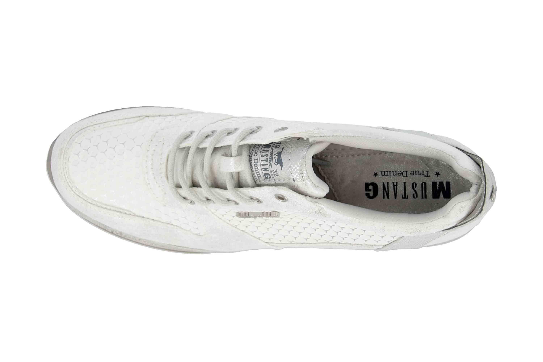 40ba41b34c5d5 Mustang Shoes Sneaker in Übergrößen Weiß 1319-303-121 große Damenschuhe