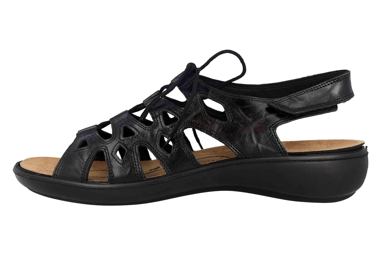 Romika Ibiza 77 Sandalen in Übergrößen Schwarz 16077 24 100 große Damenschuhe – Bild 1