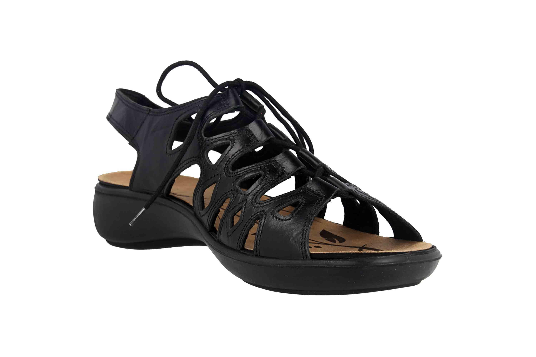 Romika Ibiza 77 Sandalen in Übergrößen Schwarz 16077 24 100 große Damenschuhe – Bild 5