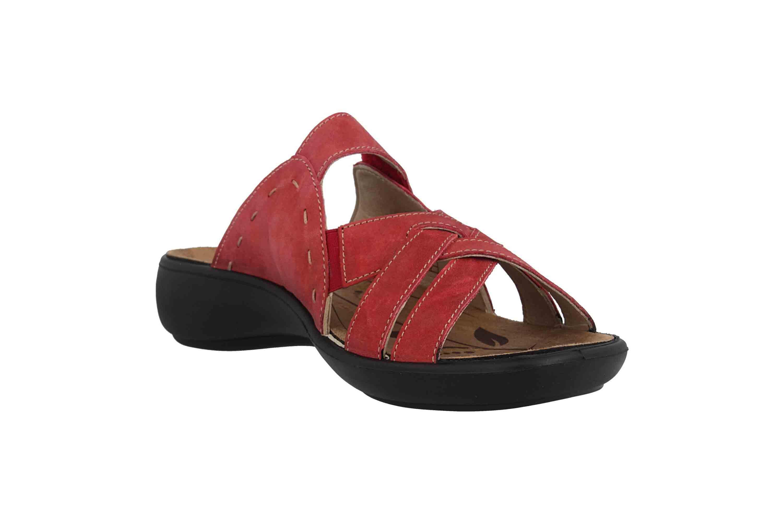 Romika Ibiza 99 Pantoletten in Übergrößen Rot 16099 40 450 große Damenschuhe – Bild 5