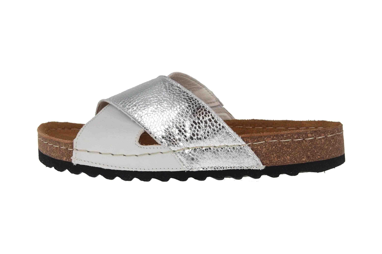 Romika Ontario 04 Pantoletten in Übergrößen Silber 34504 168 751 große Damenschuhe – Bild 1