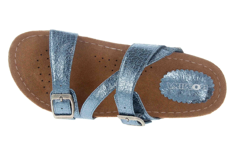 Romika Ontario 05 Pantoletten in Übergrößen Blau 34505 218 515 große Damenschuhe – Bild 7