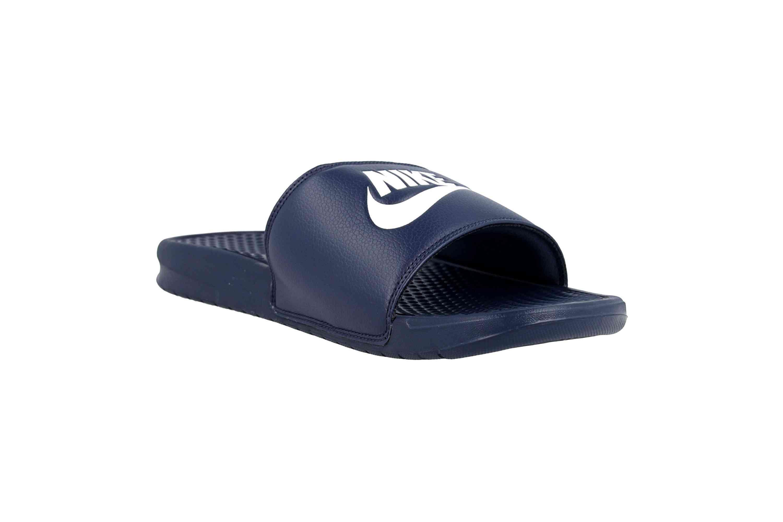 Nike Benassi JDI Badeschuhe in Übergrößen Blau 343880 403 große Herrenschuhe – Bild 5