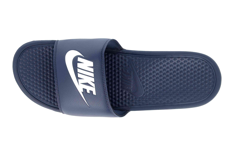 Nike Benassi JDI Badeschuhe in Übergrößen Blau 343880 403 große Herrenschuhe – Bild 7