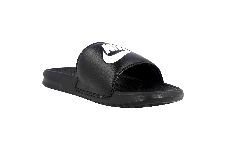 Nike Benassi JDI Badeschuhe in Übergrößen Schwarz 343880 090 große Herrenschuhe – Bild 5