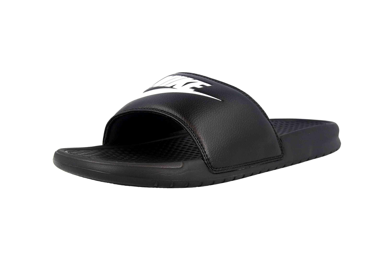 Nike Benassi JDI Badeschuhe in Übergrößen Schwarz 343880 090 große Herrenschuhe – Bild 6