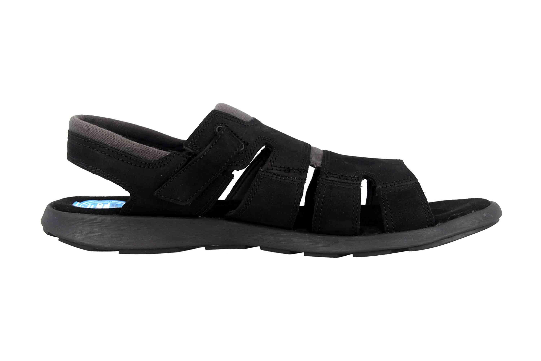 Columbia SALERNO Sandalen in Übergrößen Schwarz BM 1002-010 große Herrenschuhe – Bild 4