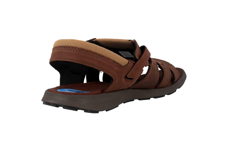 Columbia SALERNO Sandalen in Übergrößen Braun BM 1002-256 große Herrenschuhe – Bild 3