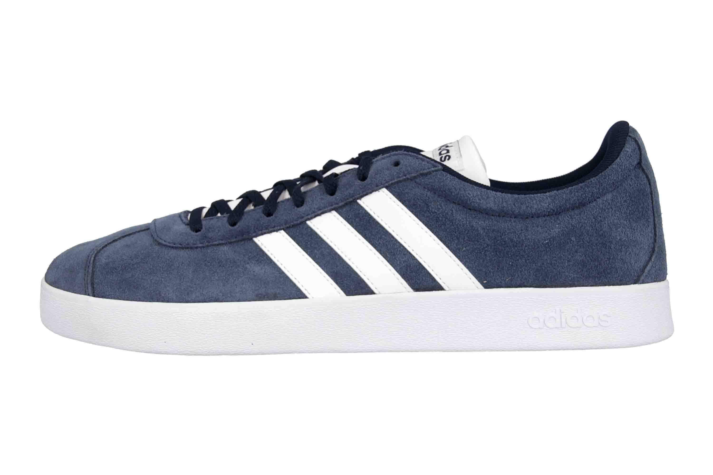 Adidas VL Court 2.0 Sneaker in Übergrößen Blau DA9854 große Herrenschuhe – Bild 1
