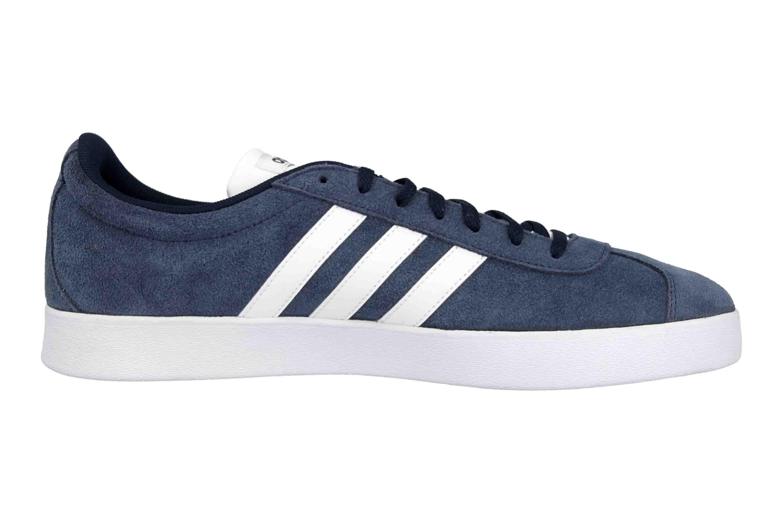 Adidas VL Court 2.0 Sneaker in Übergrößen Blau DA9854 große Herrenschuhe – Bild 4