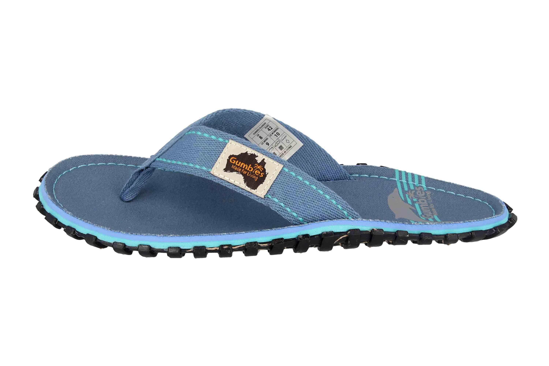 Gumbies Islander Blue Pool Zehentrenner in Übergrößen Blau 2228 große Damenschuhe – Bild 1