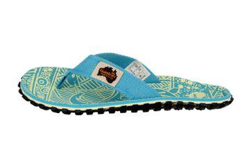 Gumbies Islander Turquoise Signature Zehentrenner in Übergrößen Türkis 2203 große Damenschuhe – Bild 1