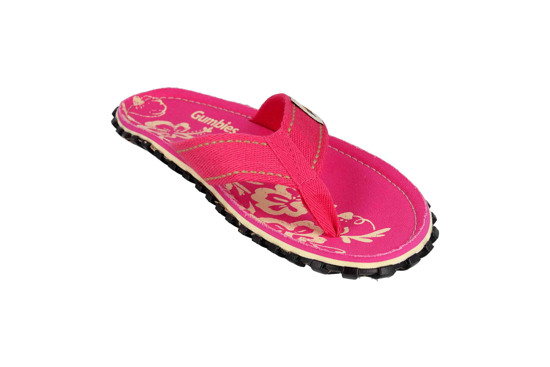 Gumbies Zehentrenner in Übergrößen Pink 2202 Gumbies Islander Pink Hibiscus große Damenschuhe – Bild 5