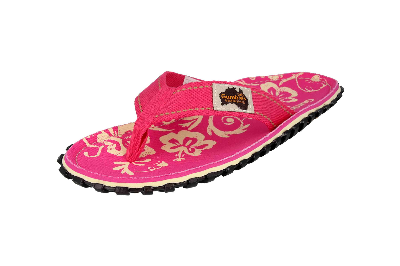Gumbies Zehentrenner in Übergrößen Pink 2202 Gumbies Islander Pink Hibiscus große Damenschuhe – Bild 6