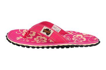 Gumbies Zehentrenner in Übergrößen Pink 2202 Gumbies Islander Pink Hibiscus große Damenschuhe – Bild 1