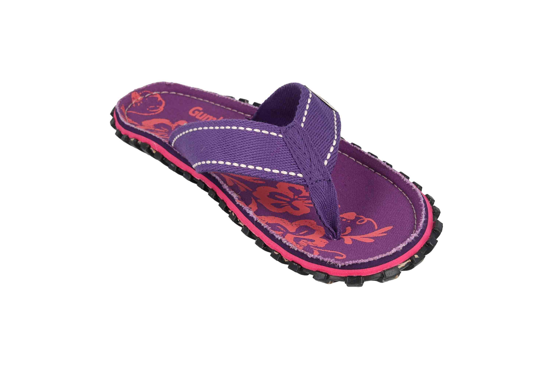 Gumbies Zehentrenner in Übergrößen Violett 2204 Gumbies Islander Purple Hibiscus große Damenschuhe – Bild 5