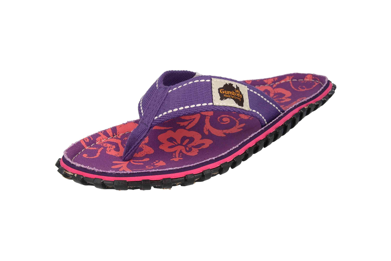 Gumbies Zehentrenner in Übergrößen Violett 2204 Gumbies Islander Purple Hibiscus große Damenschuhe – Bild 6