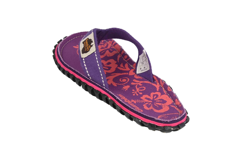 Gumbies Zehentrenner in Übergrößen Violett 2204 Gumbies Islander Purple Hibiscus große Damenschuhe – Bild 2
