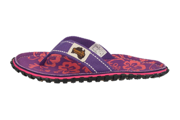 Gumbies Zehentrenner in Übergrößen Violett 2204 Gumbies Islander Purple Hibiscus große Damenschuhe – Bild 1