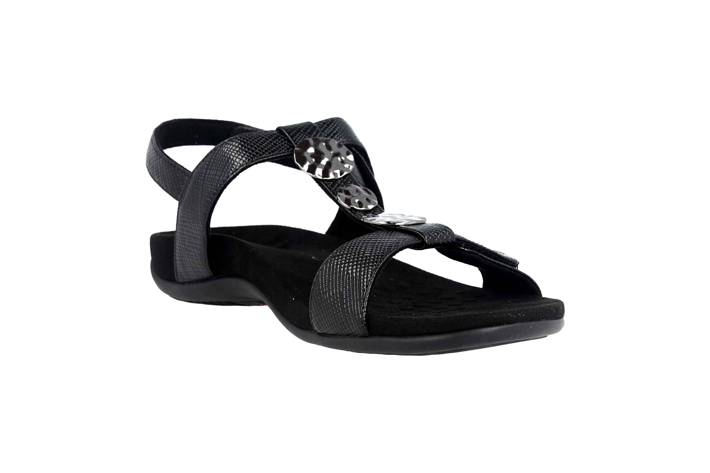 Vionic Sandaletten in Übergrößen Schwarz Rest Farra Lizard Black große Damenschuhe – Bild 5