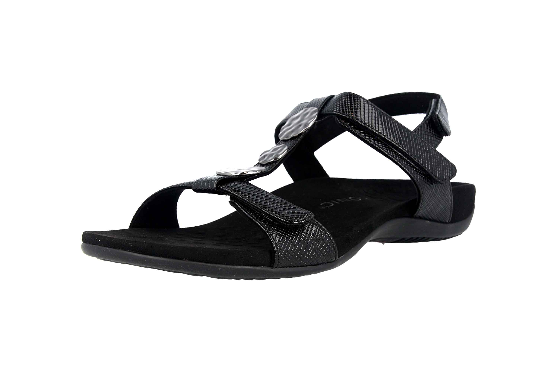 Vionic Sandaletten in Übergrößen Schwarz Rest Farra Lizard Black große Damenschuhe – Bild 6