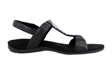 Vionic Sandaletten in Übergrößen Schwarz Rest Farra Lizard Black große Damenschuhe – Bild 4