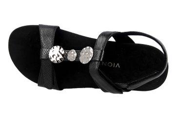 Vionic Sandaletten in Übergrößen Schwarz Rest Farra Lizard Black große Damenschuhe – Bild 7