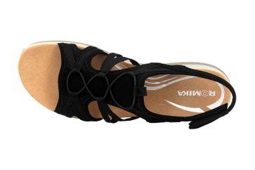 Romika Olivia 08 Sandalen in Übergrößen Schwarz 78308 78 100 große Damenschuhe – Bild 7