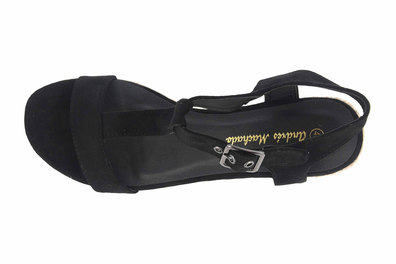 Andres Machado Sandaletten in Übergrößen Schwarz AM5343 Ante Negro große Damenschuhe – Bild 7