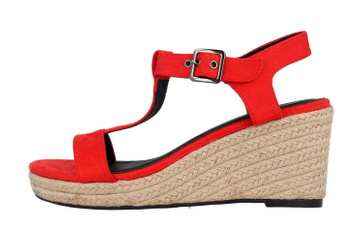 Andres Machado Sandaletten in Übergrößen Rot AM5343 Ante Rojo große Damenschuhe – Bild 1