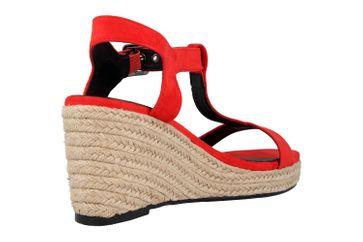 Andres Machado Sandaletten in Übergrößen Rot AM5343 Ante Rojo große Damenschuhe – Bild 3