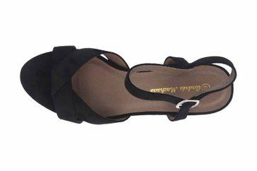 Andres Machado Sandaletten in Übergrößen Schwarz AM5378 Ante Negro große Damenschuhe – Bild 7