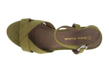 Andres Machado Sandaletten in Übergrößen Grün AM5378 Ante Oliva große Damenschuhe – Bild 7