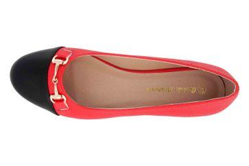 Andres Machado Ballerinas in Übergrößen Rot AM5341 Grabado Rojo große Damenschuhe – Bild 7
