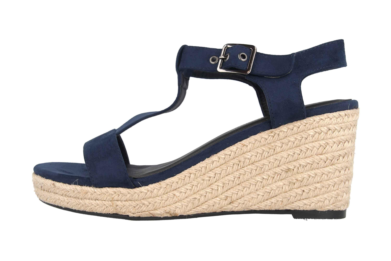 Andres Machado Sandaletten in Übergrößen Blau AM5343 Ante Marino große Damenschuhe – Bild 1