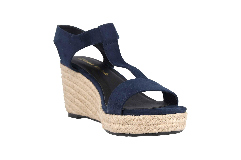 Andres Machado Sandaletten in Übergrößen Blau AM5343 Ante Marino große Damenschuhe – Bild 5